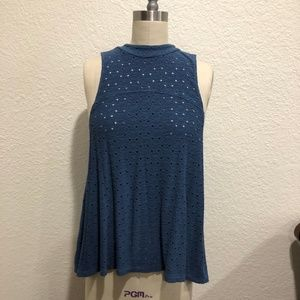 American Eagle Dark Periwinkle Tank Top Size Small